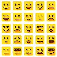 Iconos smiley plana