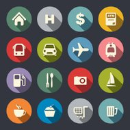 Travel map icons
