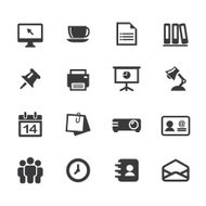 Office Silhouette Icons 1