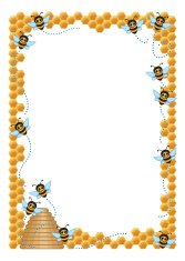 Honeycomb Bees Frame C