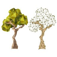 tree in low poly style