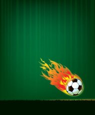 Flaming Soccer Ball Sports Background