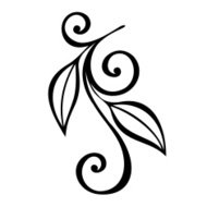 Original Decorative Leaf with Ornament (Vector)