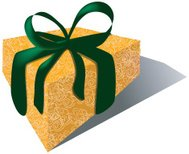 Gift with Velvet Ribbon & Brocade paper
