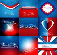 President Day in United States of America collection colorful ba