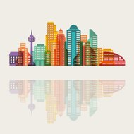 Cityscape background with buildings.