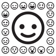 Smiley faces conjunto de iconos