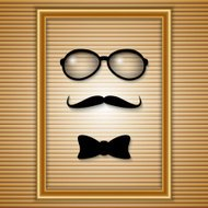 Vector set of hipster elements in the frame