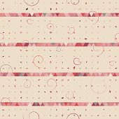 Abstract of triangle, dot, swirl