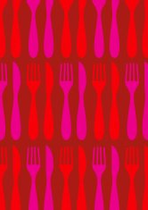 Knife and fork vector pattern