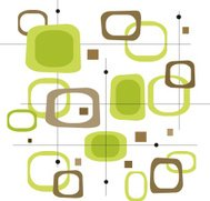 Retro Lime Green und Brown Quadrate (Vector)