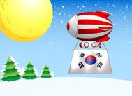 balloon with the flag of South Korea