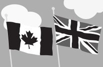 Canadian British Flags