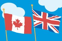 Canadian British Flags C