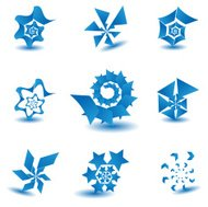 Industrial and technology concept icon set