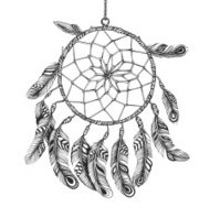 American Indian dreamcatcher of shaman
