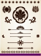 Ornamental page decorations and dividers