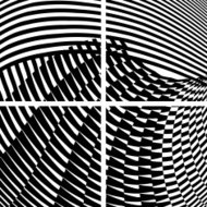 abstract black and white stripe pattern banner background