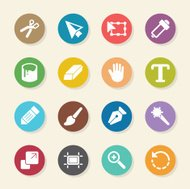 Design Tools Icons - Color Circle Series