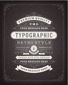 Retro typographic design elements