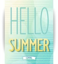 Hello summer abstract poster