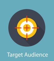 Target Audience Flat Concept Icon Vector Illustration