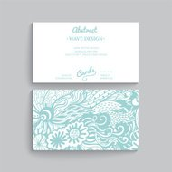 Vector simple  business card template with decorative ornament,