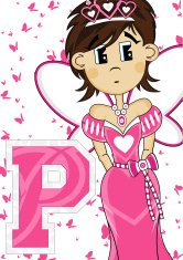 Fairytale Princess Learning Letter P