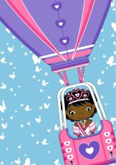 Princess in Heart Hot Air Balloon