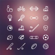 Icons sport on vector background