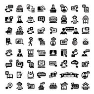 big online education icons set