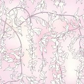 Flower wallpaper. Floral seamless pattern  in japanese style.