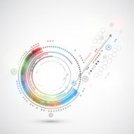 Abstract color technology background
