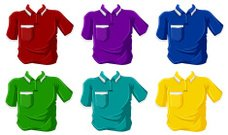 Colorful polo shirts