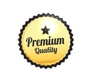 Golden Premium Quality Badge