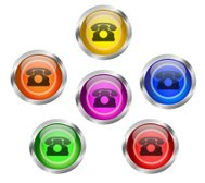 Telephone Contact Icon Button