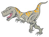 Vector Illustration of a T-Rex Dinosaur
