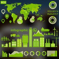 Defocused eco city infographics