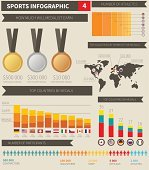Sport infographic elements