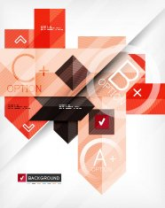 Business geometric infographic option banner