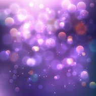 Abstract background, violet magic lights. Vector illustration.