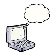 cartoon laptop computer