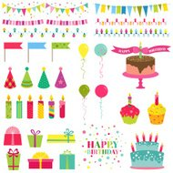 Buon compleanno e Party - per design e scrapbook
