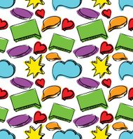Speech bubbles seamless colorful pattern