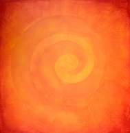 Spiral painting in warm colors