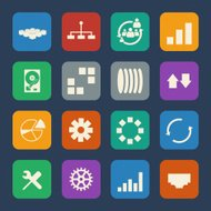 Business diagram graphs and statistic related vector icons