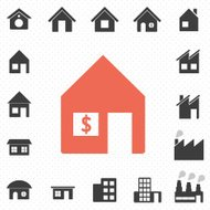 houses and building icon for real estate