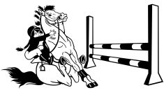 cartoon equestrian sport