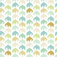 Elephant seamless pattern retro