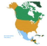 Map of North America from Triangles